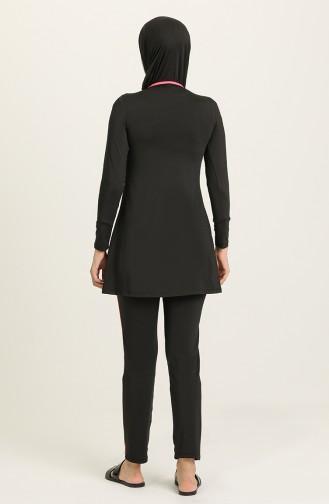 Black Swimsuit Hijab 1850-03