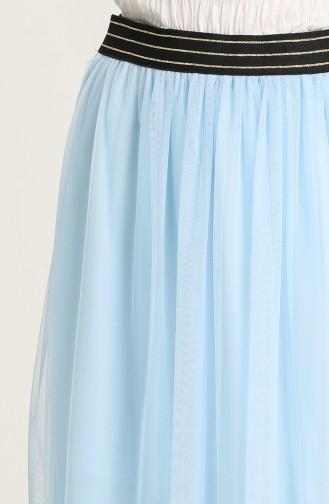 Jupe Bleu Bébé 0070-01