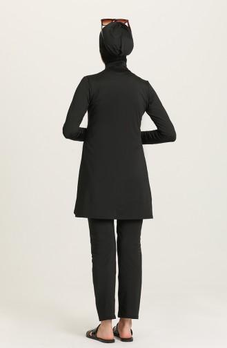Black Modest Swimwear 1951-01