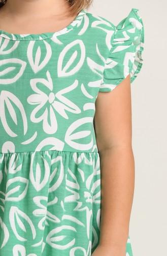 Robe Enfant Vert 5410-03