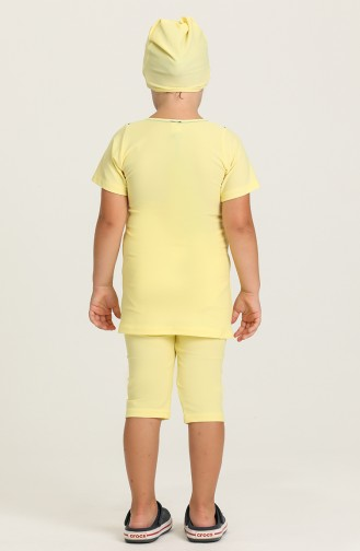 Çocuk Havuz Mayo 0140-12 Sarı Petrol Mavisi