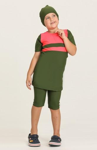 Dark Khaki Modest Swimwear 0140-10