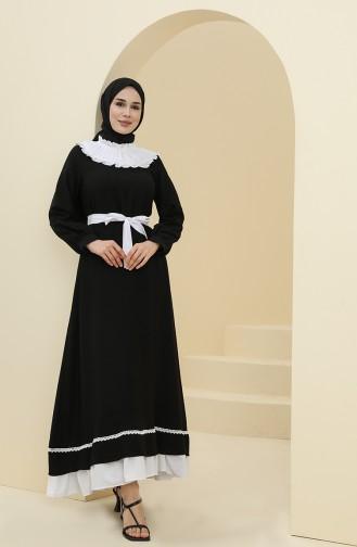 Robe Hijab Noir 8343-01
