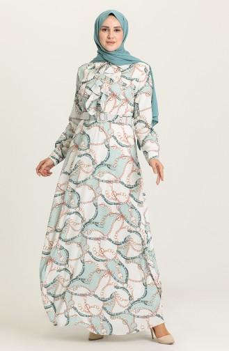 Robe Hijab Vert menthe 8643-05