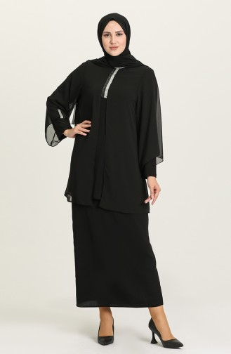 Schwarz Bluse 3045-01