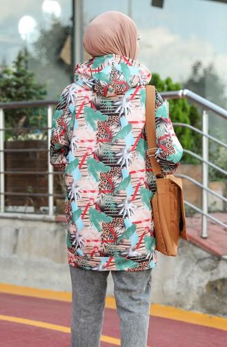 Sweatshirt Vert noisette 5021U-01
