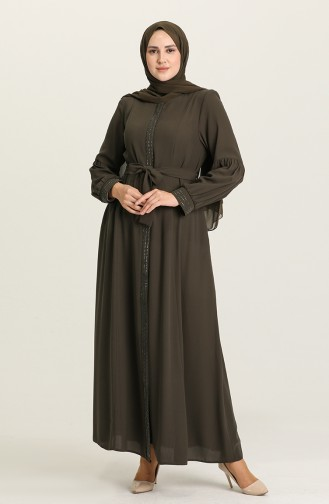 Khaki Abaya 4309-03