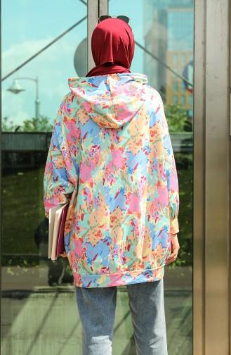 Desenli Sweatshirt 5021L-01 Mint Somon