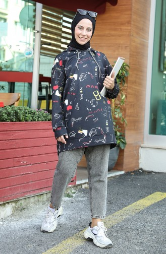 Sweatshirt Noir 5021O-01
