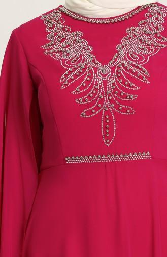 Zwetschge Hijab-Abendkleider 2052-02