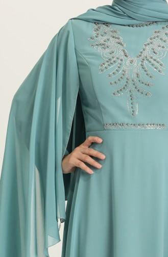 Habillé Hijab Vert noisette 2052-04