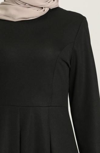 Black Hijab Dress 5021-02