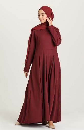 Robe Hijab Cerise 5021-04