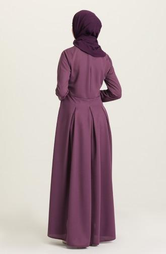 Purple Hijab Dress 5021-05