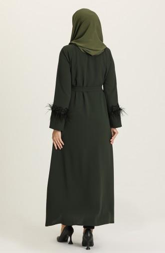 Khaki Abaya 9008-03