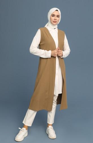 Gilet Sans Manches Khaki 8361-01