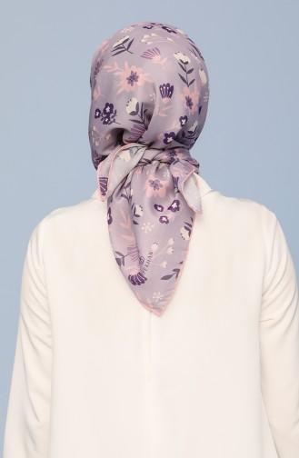 İpekhan Violet Pamuk Eşarp 40020-34 Lila