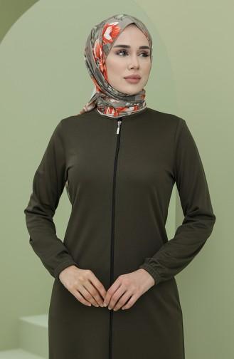 Khaki Abaya 0808-05