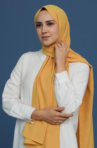Düz Soft Pamuk Şal 1903200-04 Sarı