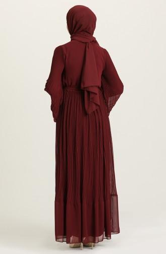 فستان أحمر كلاريت 3031-02