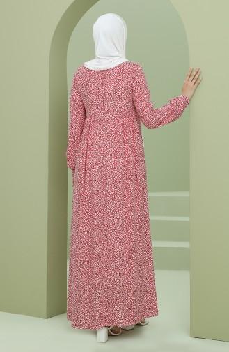 Red Hijab Dress 3298-03