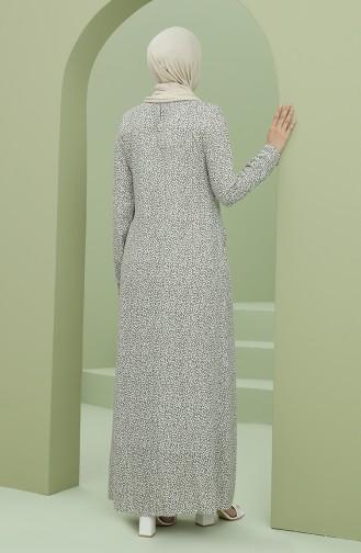 Beli Büzgülü Cepli Elbise 3304-07 Yeşil