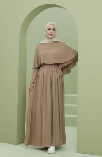 Mink Hijab Dress 8329-06