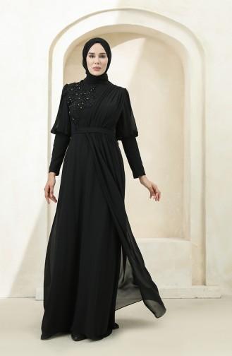 Habillé Hijab Noir 1112-06