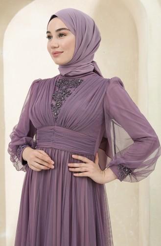 Habillé Hijab Lila 3403-03