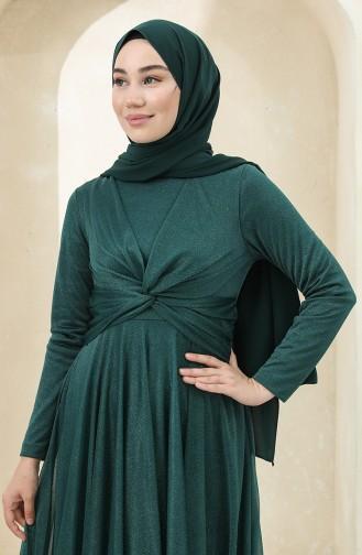 Smaragdgrün Hijab-Abendkleider 5397-07