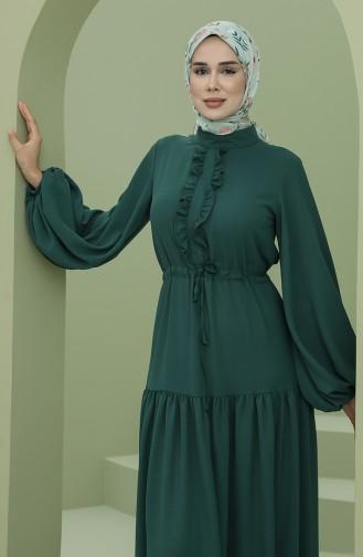 Robe Hijab Vert emeraude 7001-03