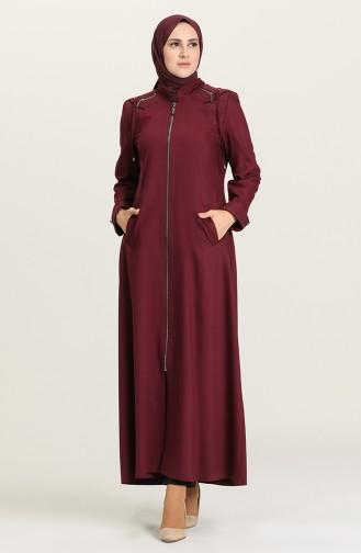 Claret Red Abaya 1426-01