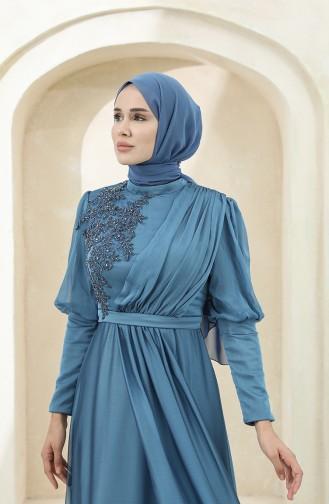 Habillé Hijab Indigo 4876-01
