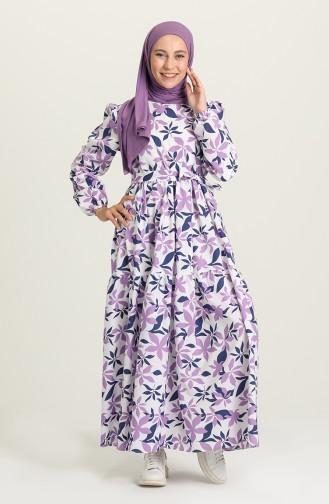 Lilac İslamitische Jurk 5413-05