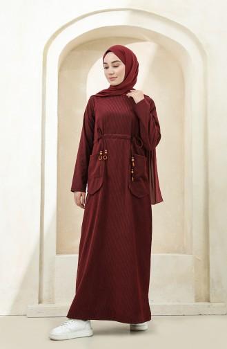 Robe Hijab Bordeaux 22K1608-03