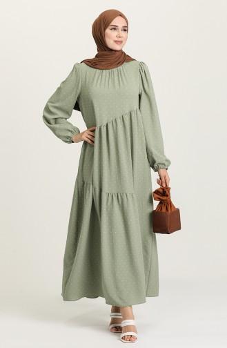 فستان أخضر مائي 1021105ELB-04