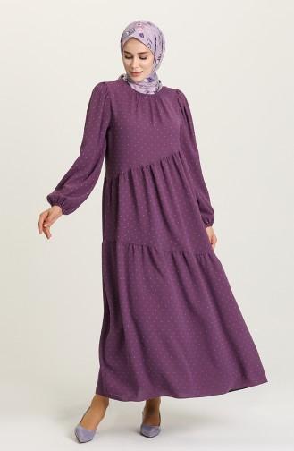 Purple Hijab Dress 1021105ELB-06