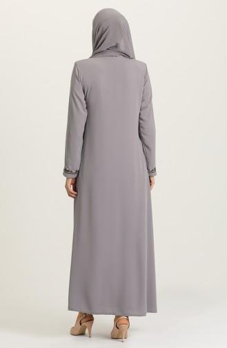 Gray Abaya 3001-05