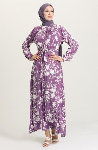 Robe Hijab Lila 1441-11