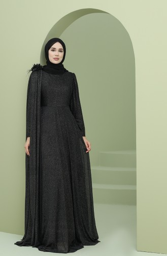Habillé Hijab Noir 3050-01