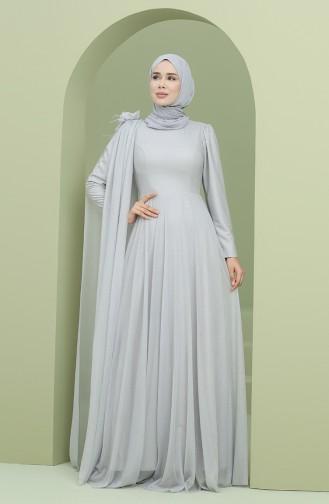 Habillé Hijab Gris 3050-04