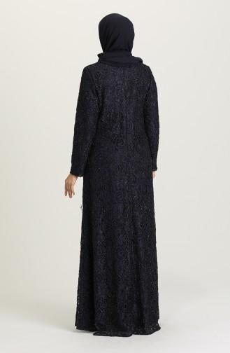 Habillé Hijab Bleu Marine 3005-03