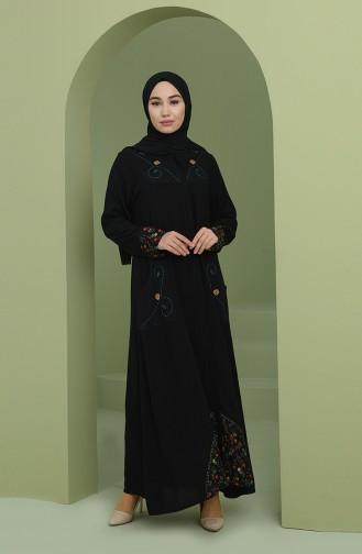 Black Abaya 9085-01