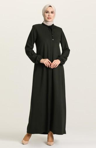 Khaki Abaya 5016-04