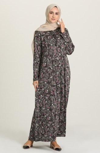 Fuchsia İslamitische Jurk 0426-04