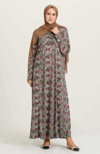 Fuchsia İslamitische Jurk 0427-01
