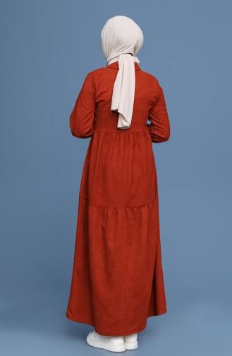 Ziegelrot Hijap Kleider 22K8437-02