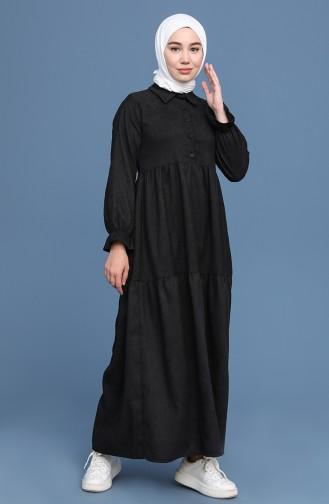 Black İslamitische Jurk 22K8437-03