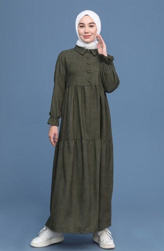 Khaki Hijap Kleider 22K8437-05