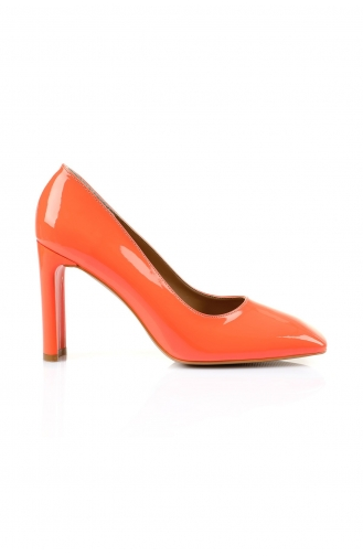 Chaussures a Talons Orange 1478-02
